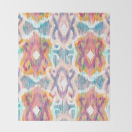 lollipop balinese ikat Throw Blanket