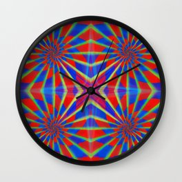 Quadro #1 Vibrant Psychedelic Optical Illusion Wall Clock