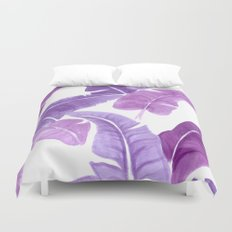 Purple Palms Duvet Cover