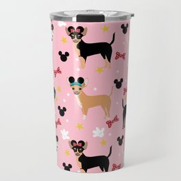 Chihuahua theme park lover dog breed pattern gifts Travel Mug