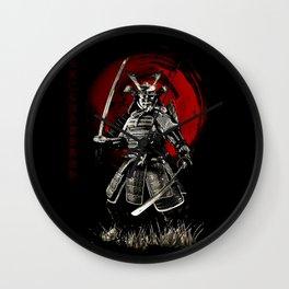 Bushido Samurai Wall Clock