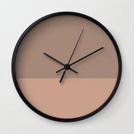 GRANITE x LIGHT SIENNA Wall Clock