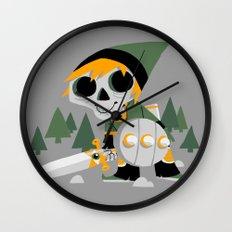 Skull Sword Guy Wall Clock