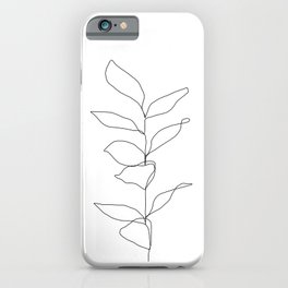 Plant one line drawing illustration - Kay iPhone Case