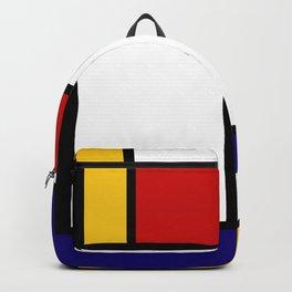 Geometric Wall Art, Mid Century Modern Wall Art, Grey Yellow Black Art, Shapes and Lines Art, Bauhau Backpack