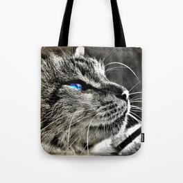 Blue Eyes of a Gorgeous Cat Tote Bag