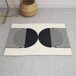 Abstraction_NEW_SUN_DOUBLE_BLACK_LINE_ART_Minimalism_014BB Rug