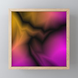 Cosmic sparkling hole of pink zigzags and yellow spots. Framed Mini Art Print