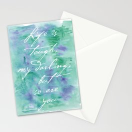 Life is Tough in Teal Stationery Cards