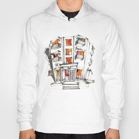 japanese Hoodies featuring Japanese building by Natsuki Otani