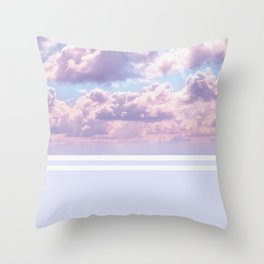 Dreamy Pastel Sky on Violet Throw Pillow
