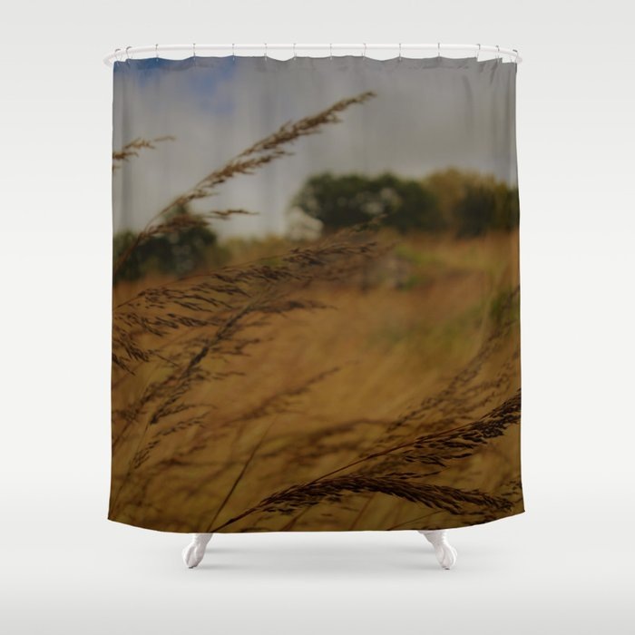 Amber Waves Shower Curtain