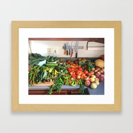 All of the Produce Framed Art Print