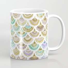 GOLDEN MERMACITA Watercolor Mermaid Scales Coffee Mug