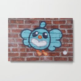 Funny Graffiti Metal Print