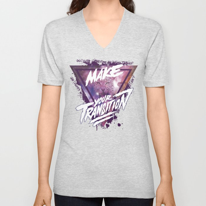 Make your transition (purple) Unisex V-Neck