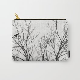Birds in Branches Gothic Silhouette Carry-All Pouch