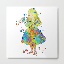 Drink Me - Alice In Wonderland - Watercolor Art Metal Print