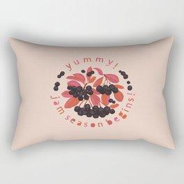 Yummy! Jam season begins! Aronia berry Rectangular Pillow