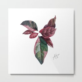 Purple Croton Metal Print