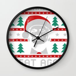 Make Christmas Great Again Trump Wall Clock
