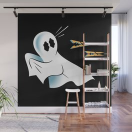 A Fearful Phantom (Black) Wall Mural