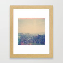 California Faded Framed Art Print