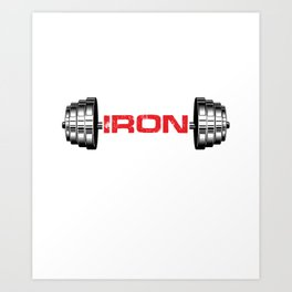 Training Weightlifter Fitness Bodybuilder Gym Me Myself And Iron Barbell Gift Art Print