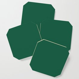 Teal The World (Green) Coaster