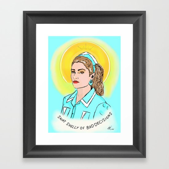 St. Shelly Framed Art Print