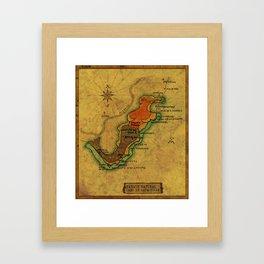 Map Mermaid Cabo de Gata Framed Art Print