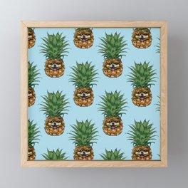 Pineapple Pomeranian Framed Mini Art Print