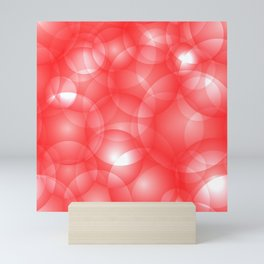Gentle intersecting red translucent circles in pastel colors with a ruby glow. Mini Art Print