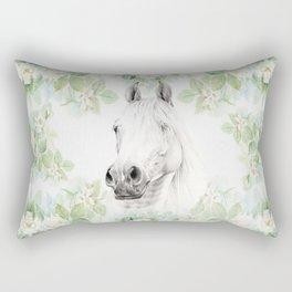 Horse in the Mystery Garden Rectangular Pillow