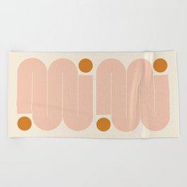 Abstraction_SUN_LINE_ART_Minimalism_002 Beach Towel