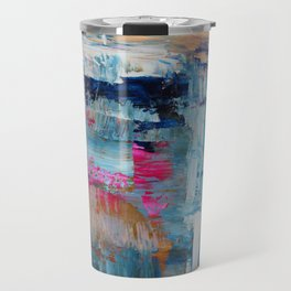 Evening On the Alpaca Farm Fine Art Abstract Painting Travel Mug