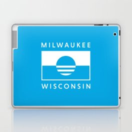 Milwaukee Wisconsin - Cyan - People's Flag of Milwaukee Laptop & iPad Skin