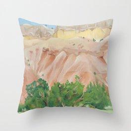 Georgia O'Keeffe My Backyard Throw Pillow