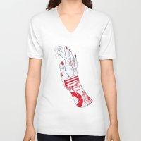 portal V-neck T-shirts featuring Portal by scoobtoobins