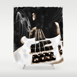 SMOKIN BASS Shower Curtain