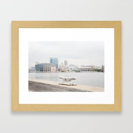 A harbor view Framed Art Print