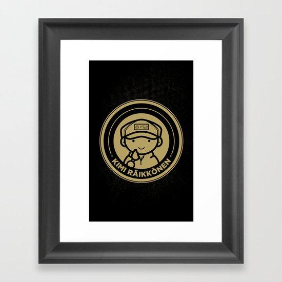 Chibi Kimi Raikkonen - Lotus F1 Team Framed Art Print