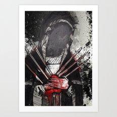 The Bleeding Heart of a Hooded Menace Art Print
