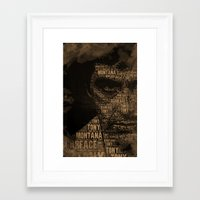 scarface Framed Art Prints featuring Scarface by Diego Tirigall