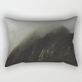 Foggy Rockface Rectangular Pillow