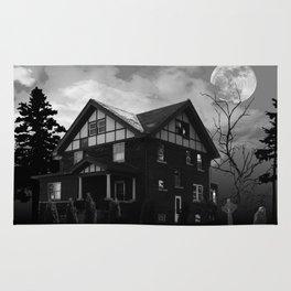Halloween haunted house Rug