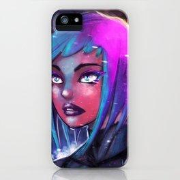 NeonGirl iPhone Case
