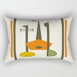 Mid-Century Modern Art Musical Strings Rectangular Pillow