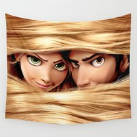 tangled Wall Tapestries featuring Tangled by Janismarika