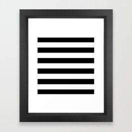 Stripe Black & White Horizontal Framed Art Print